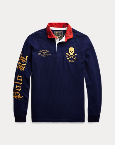 폴로 랄프로렌 Polo Ralph Lauren Classic Fit Cotton Rugby Shirt,Cruise Navy