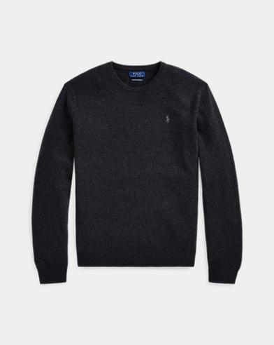 폴로 랄프로렌 맨 워시어블 캐시미어 스웨터 - 다크 그라나이트 Polo Ralph Lauren Washable Cashmere Sweater, 489748
