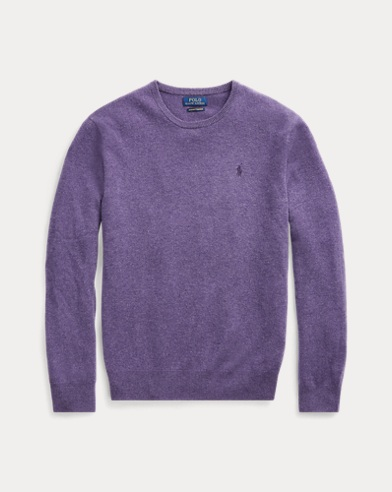 폴로 랄프로렌 Polo Ralph Lauren Washable Cashmere Sweater,Country Purple Heather