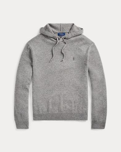 폴로 랄프로렌 Polo Ralph Lauren Washable Cashmere Sweater,Fawn Grey Heather