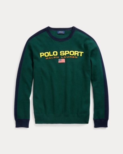 폴로 랄프로렌 Polo Ralph Lauren Polo Sport Cotton Sweater,Forest/Navy