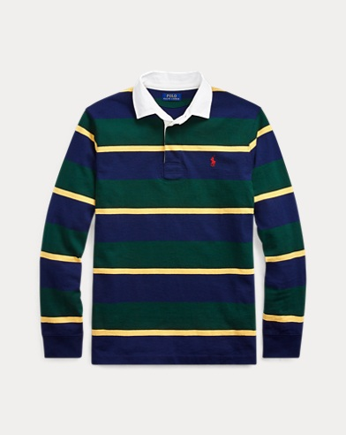 폴로 랄프로렌 Polo Ralph Lauren The Iconic Rugby Shirt,French Navy/Classic Wine