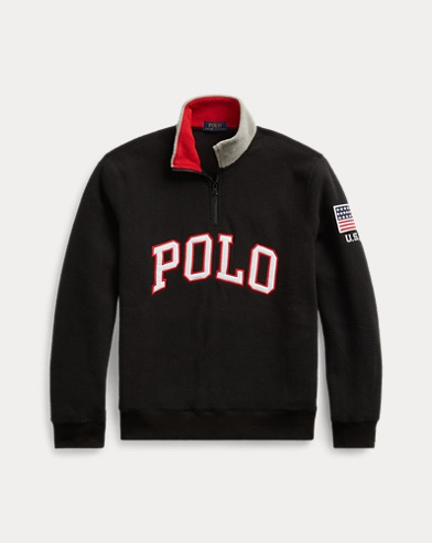 폴로 랄프로렌 Polo Ralph Lauren Polo Half-Zip Sweatshirt,Polo Black