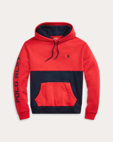 폴로 랄프로렌 Polo Ralph Lauren Color-Blocked Hoodie,RL 2000 Red Multi