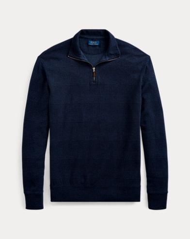 폴로 랄프로렌 맨 저지 하프짚 풀오버 - 네이비 Polo Ralph Lauren Jersey Half-Zip Pullover,Navy Hthr