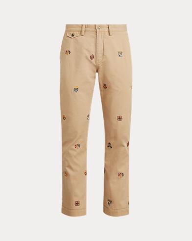 폴로 랄프로렌 Polo Ralph Lauren Classic Fit Embroidered Chino,Luxury Tan W/ Rl Crest Em