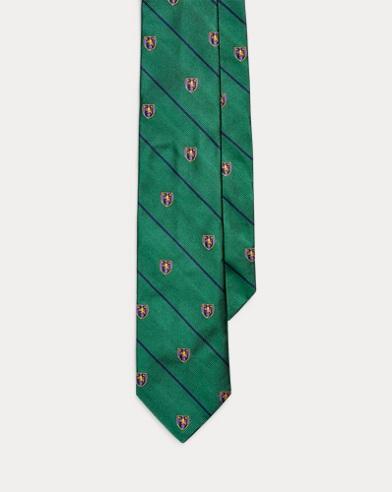 폴로 랄프로렌 Polo Ralph Lauren Striped Silk Narrow Club Tie,Green