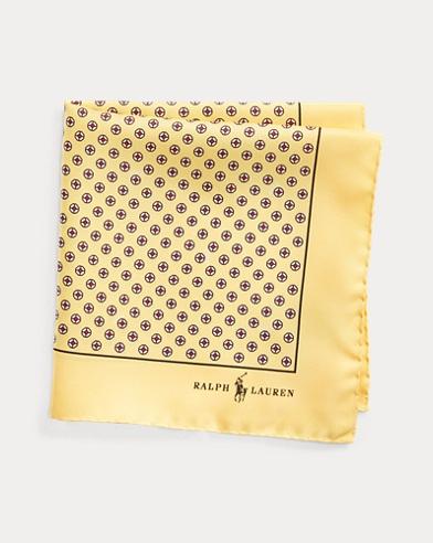폴로 랄프로렌 Polo Ralph Lauren Neat Silk Pocket Square,Buff