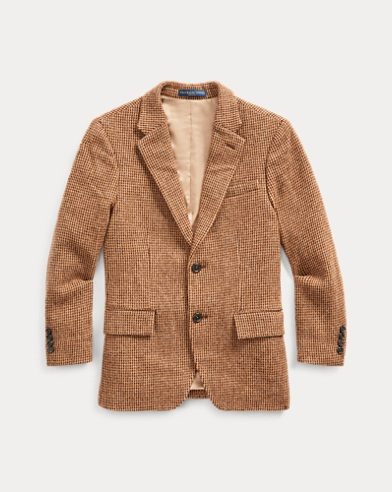 폴로 랄프로렌 보이즈 코트 Polo Ralph Lauren Polo Tick-Weave Sport Coat,Brown