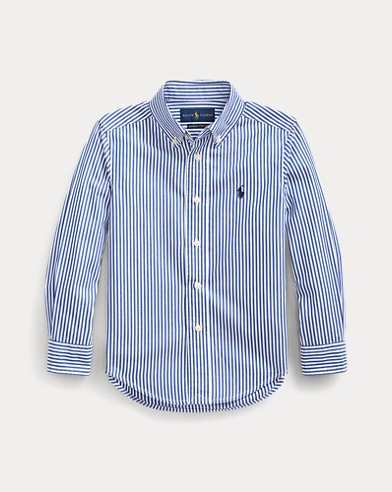 폴로 랄프로렌 Polo Ralph Lauren Striped Stretch Cotton Shirt,Blue/White Multi