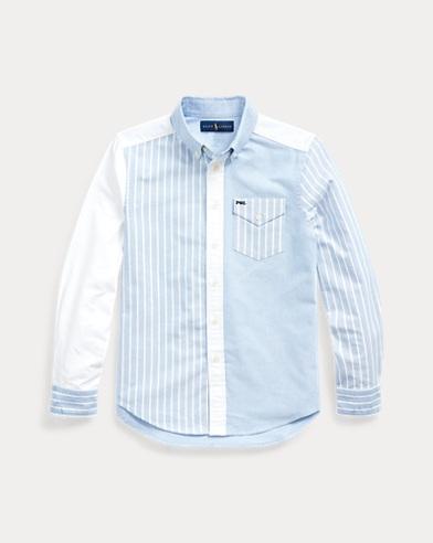 폴로 랄프로렌 보이즈 셔츠 Polo Ralph Lauren Cotton Oxford Fun Shirt,Blue Multi
