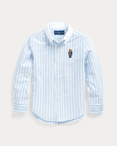폴로 랄프로렌 Polo Ralph Lauren Polo Bear Cotton Oxford Shirt,Bsr Blue/White