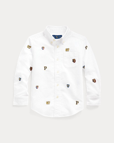 폴로 랄프로렌 Polo Ralph Lauren Embroidered Cotton Shirt,Bsr White