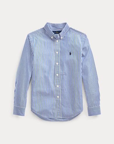 폴로 랄프로렌 Polo Ralph Lauren Striped Stretch Cotton Shirt,Blue/White Multi
