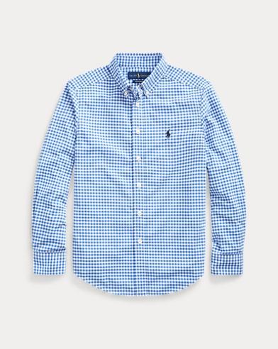 폴로 랄프로렌 Polo Ralph Lauren Plaid Performance Poplin Shirt,Blue/White
