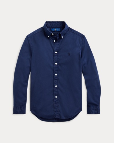 폴로 랄프로렌 보이즈 트윌 셔츠 Polo Ralph Lauren Cotton Twill Shirt,French Navy