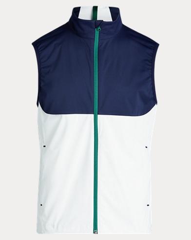폴로 랄프로렌 골프 조끼 Polo Ralph Lauren Paneled Interlock Golf Vest,Navy Mu