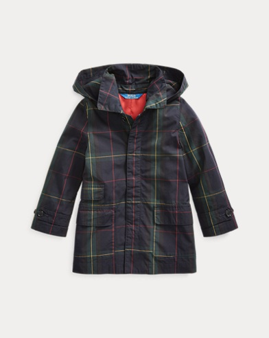 폴로 랄프로렌 여아용 코트 Polo Ralph Lauren Black Watch Cotton Coat,Navy Green Multi