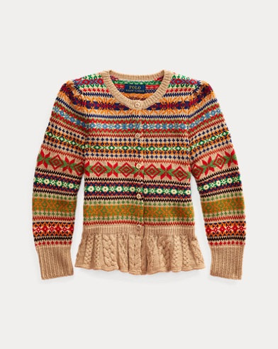 폴로 랄프로렌 여아용 가디건 Polo Ralph Lauren Fair Isle Wool-Blend Cardigan,Multi