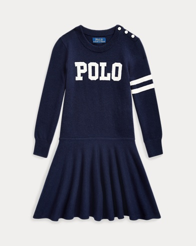 폴로 랄프로렌 여아용 원피스 Polo Ralph Lauren Polo Wool-Cotton Sweater Dress,RL Navy