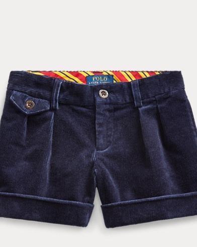 폴로 랄프로렌 여아용 셔츠 Polo Ralph Lauren Stretch Cotton Corduroy Short,French Navy