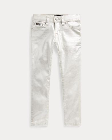폴로 랄프로렌 여아용 스키니 진 Polo Ralph Lauren Tompkins Skinny Fit Jean,Aura Wash