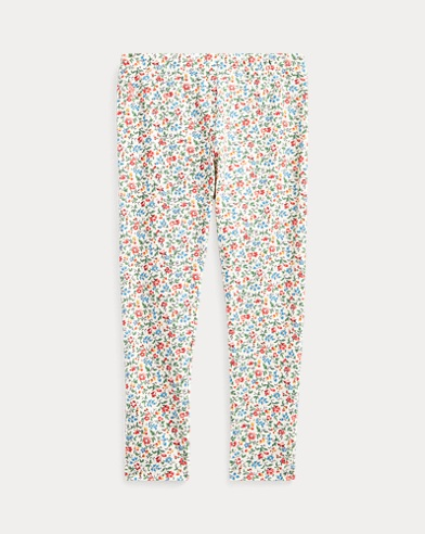 폴로 랄프로렌 Polo Ralph Lauren Floral Stretch Jersey Legging,Cream-pink-multi