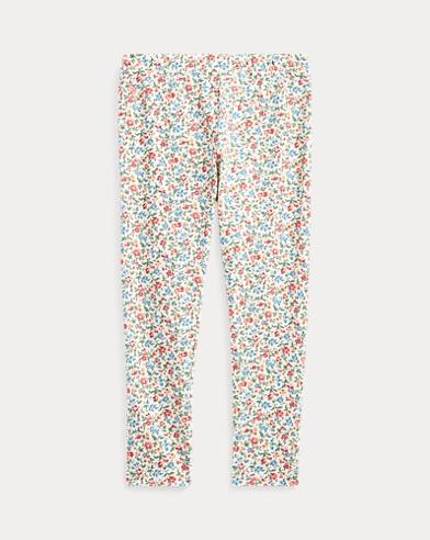 폴로 랄프로렌 여아용 레깅팬츠 Polo Ralph Lauren Floral Stretch Jersey Legging,Cream-pink-multi
