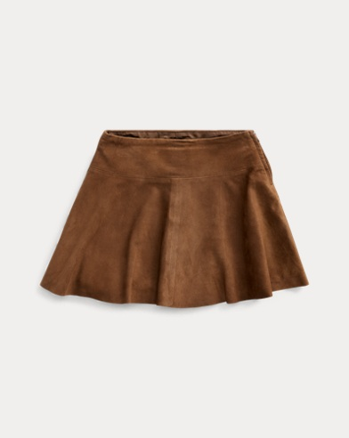 폴로 랄프로렌 여아용 스커트 Polo Ralph Lauren Goat-Suede Skirt,Soft Brown