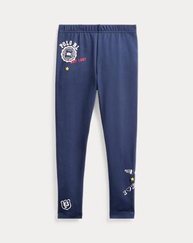 폴로 랄프로렌 여아용 레깅팬츠 Polo Ralph Lauren Graphic Stretch Jersey Legging,French Navy