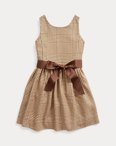 폴로 랄프로렌 여아용 원피스 Polo Ralph Lauren Glen Plaid Dobby Dress,Brown Multi