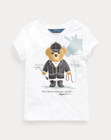 폴로 랄프로렌 Polo Ralph Lauren Unicorn Bear Cotton Jersey Tee,White