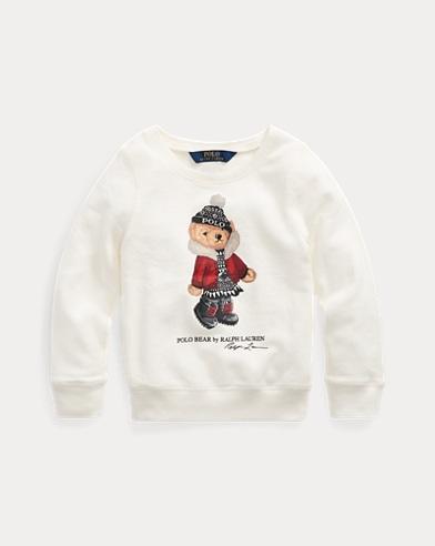 폴로 랄프로렌 여아용 스웨터 Polo Ralph Lauren Holiday Bear Terry Pullover,Nevis