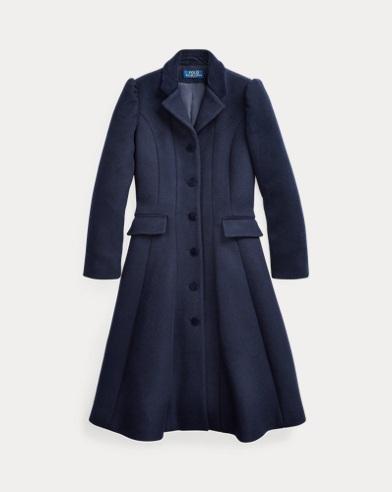 폴로 랄프로렌 Polo Ralph Lauren Wool-Blend Princess Coat,Wythe Wash