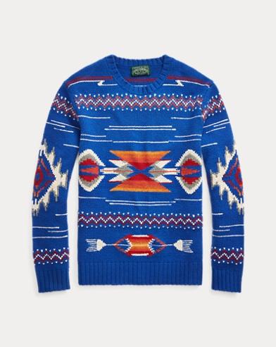 폴로 랄프로렌 Polo Ralph Lauren Southwestern Wool Sweater,Royal Multi