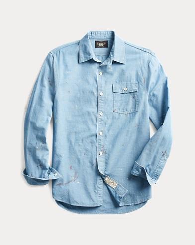 폴로 랄프로렌 Polo Ralph Lauren Painted Chambray Workshirt,Rl 228 Reactive Blue