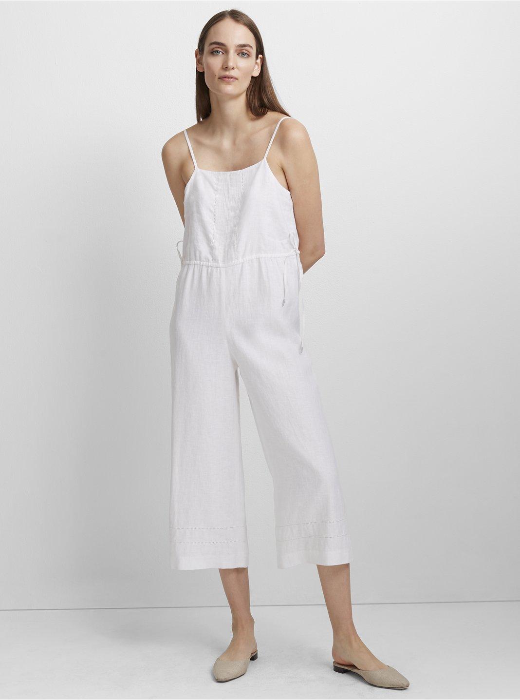 클럽 모나코 Muteira 린넨 점프수트 Club Monaco Muteira Linen Jumpsuit,White