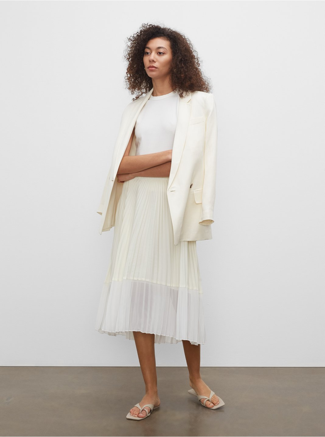 클럽 모나코 Tonie 플리티드 스커트 Club Monaco Tonie Pleated Skirt,Jackfruit