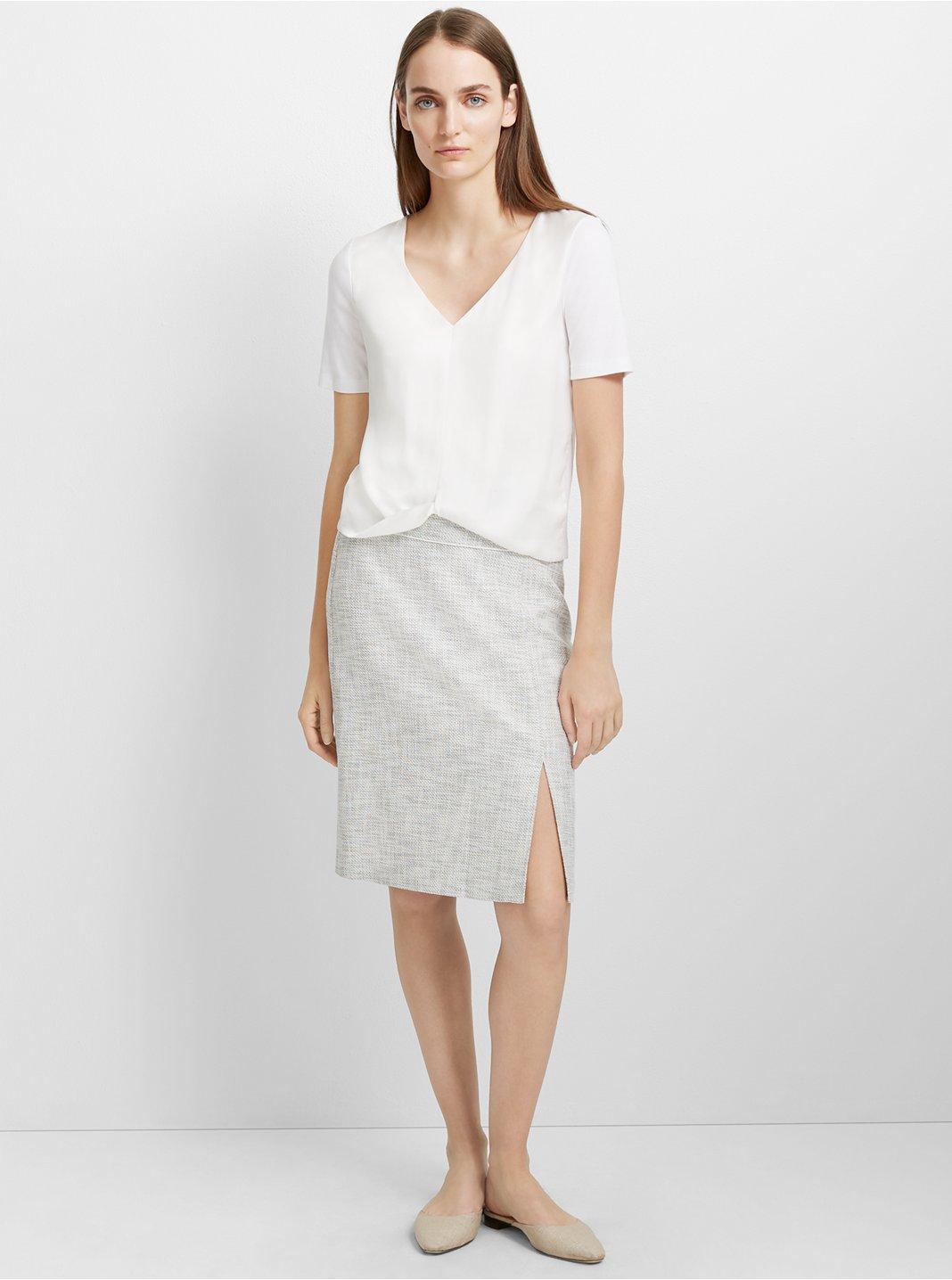 클럽 모나코 Incah 스커트 Club Monaco Incah Skirt,Black/White Multi
