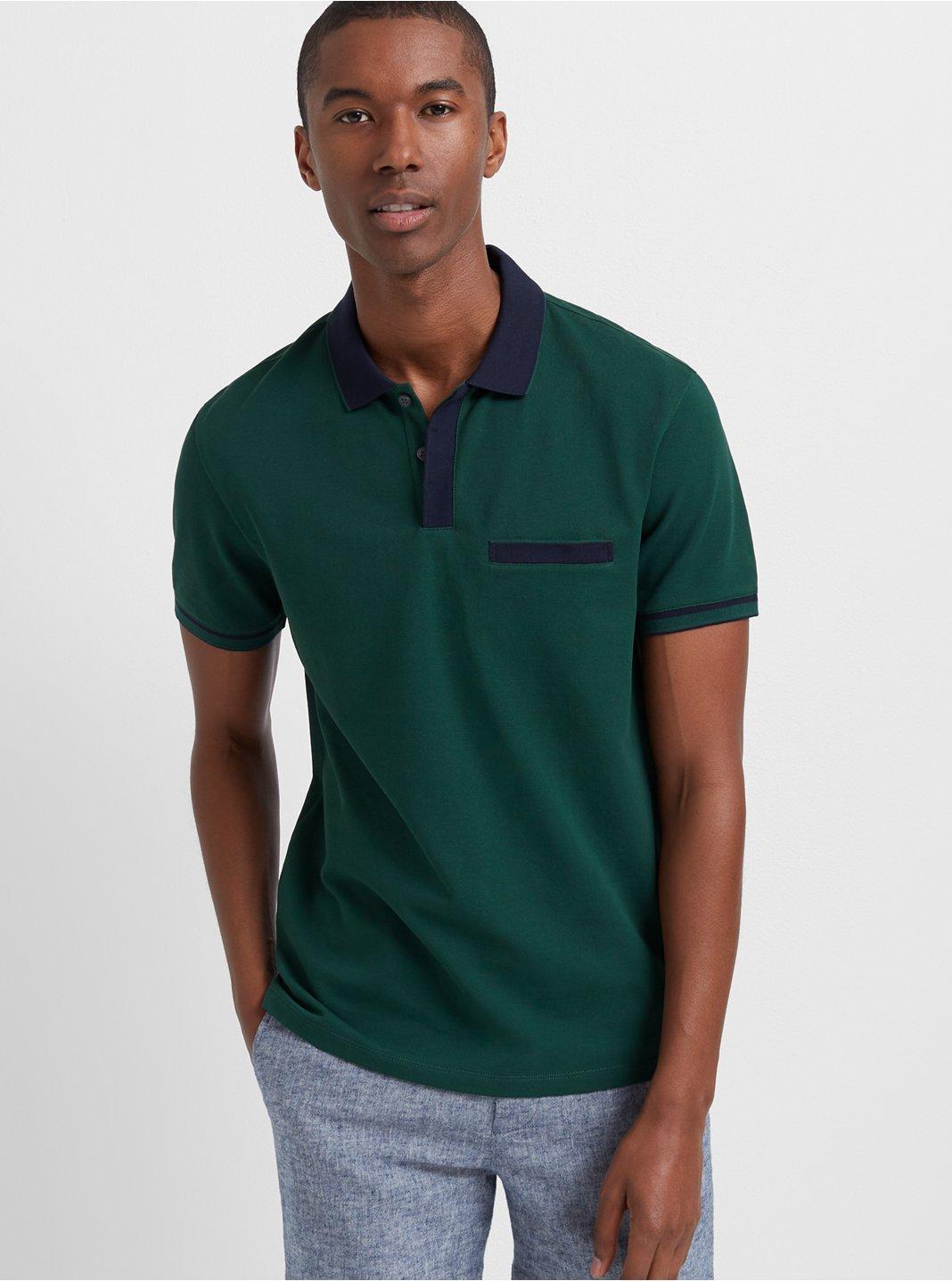 클럽 모나코 맨 Welt 반팔 티셔츠 Club Monaco Welt Pocket Polo