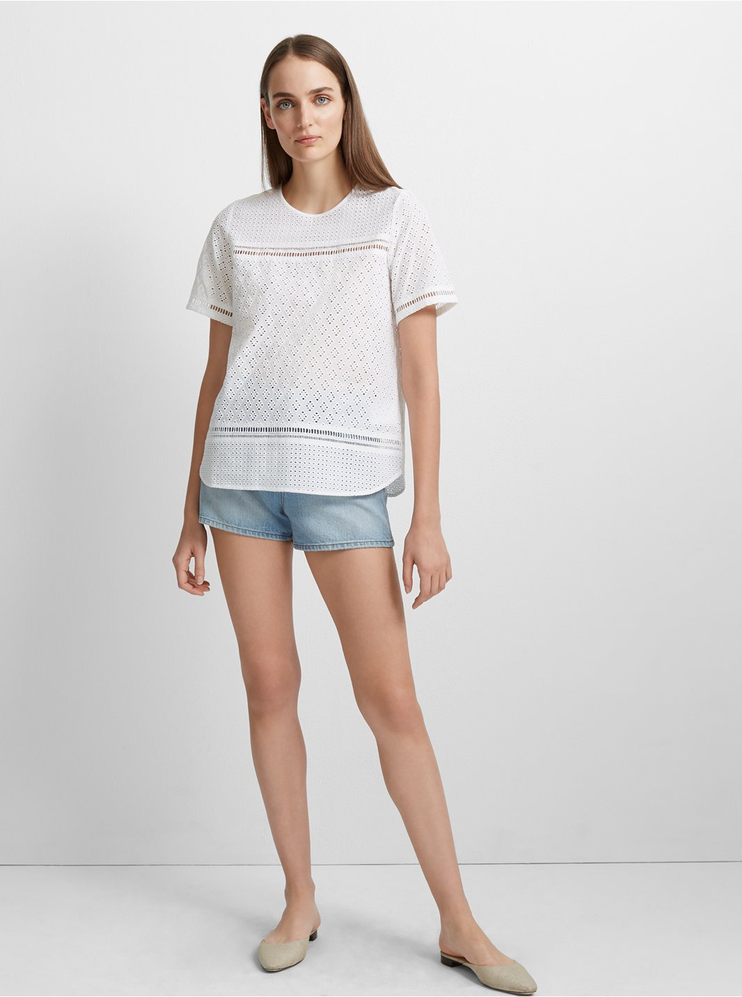 클럽 모나코 셔츠 Club Monaco Colinee Cotton Shirt,Blanc De Blanc