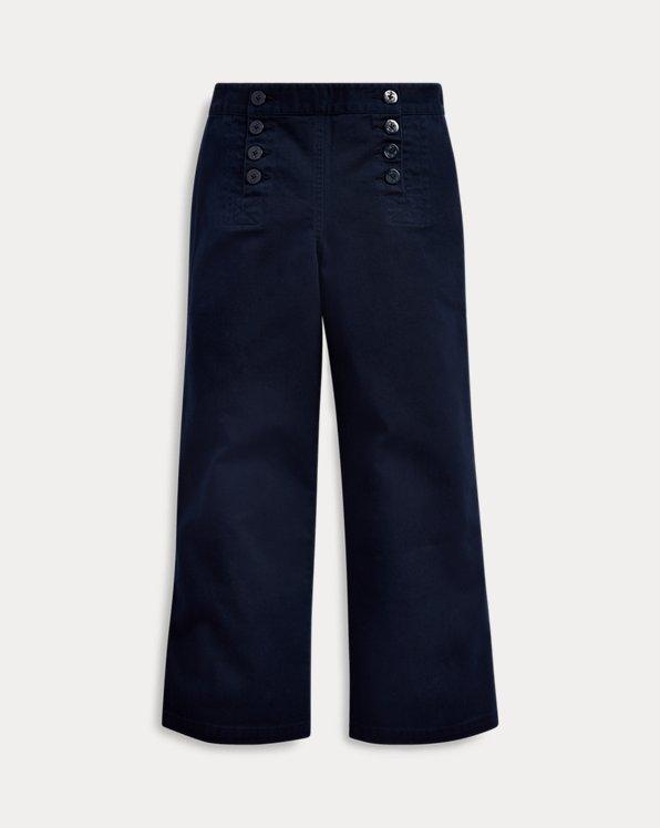 폴로 랄프로렌 걸즈 바지 Polo Ralph Lauren Cotton Twill Sailor Pant,Hunter Navy