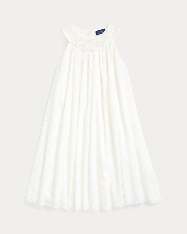 폴로 랄프로렌 걸즈 원피스 Polo Ralph Lauren Hand-Smocked Tulle Dress,Nevis