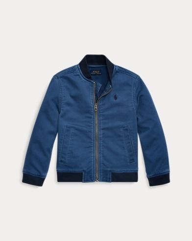 폴로 랄프로렌 남아용 야구 자켓 Polo Ralph Lauren Stretch Cotton Baseball Jacket,Federal Blue
