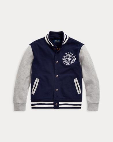 폴로 랄프로렌 남아용 프렌치 테리 야구 자켓 Polo Ralph Lauren Spa Terry Baseball Jacket,French Navy