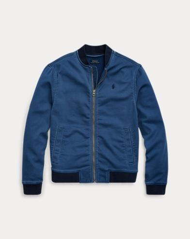 폴로 랄프로렌 보이즈 야구 자켓 Polo Ralph Lauren Stretch Cotton Baseball Jacket,Federal Blue