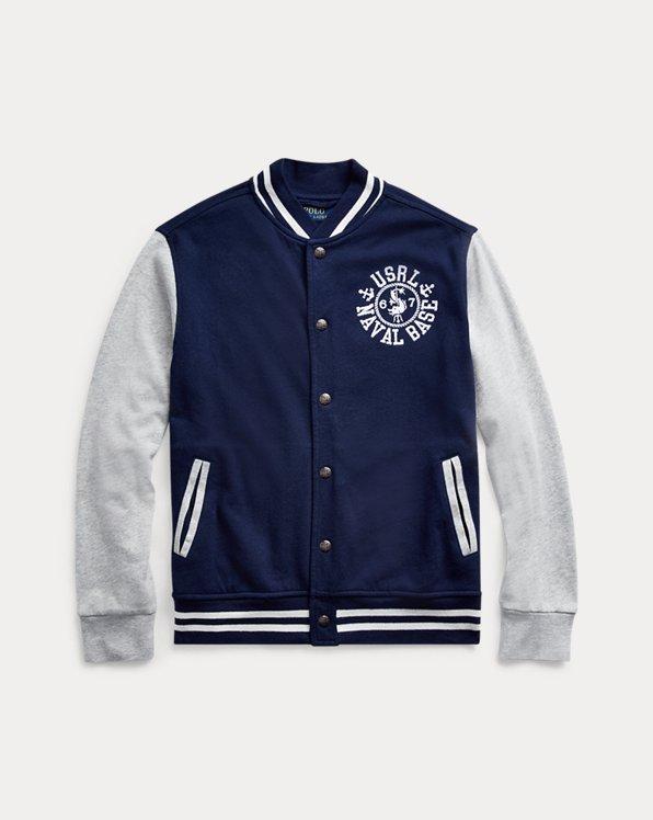 폴로 랄프로렌 보이즈 자켓 Polo Ralph Lauren Spa Terry Baseball Jacket,French Navy