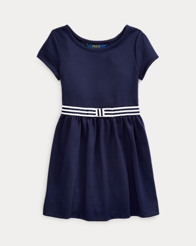 폴로 랄프로렌 여아용 원피스 Polo Ralph Lauren Bow Stretch Ponte Dress,French Navy