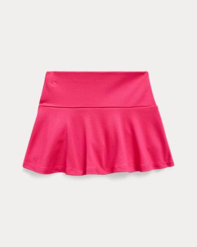 폴로 랄프로렌 Polo Ralph Lauren Ruffled Stretch Ponte Skort,Sport Pink