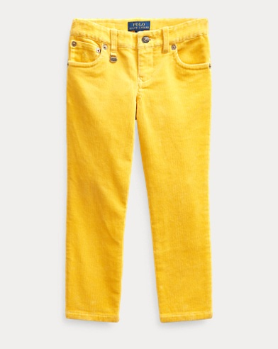 폴로 랄프로렌 Polo Ralph Lauren Stretch Skinny Corduroy Pant,Chrome Yellow